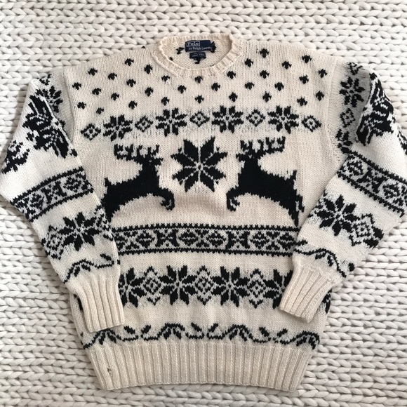 ac76c657e POLO Ralph Lauren Reindeer Fair Isle Sweater. M 5c0de65fc89e1d6246986ead